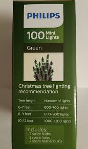 Philips 100 Green Mini Lights Philips 100 Green Mini Christmas Lights