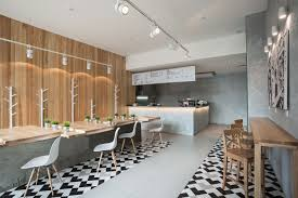 Cafe Interior Design Wallpaper On And Wok Branding 7