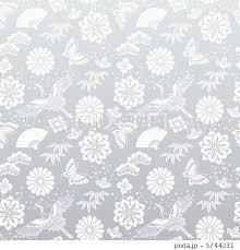 銀 シルバー 正月 和風背景のイラスト素材 5744231 Pixta