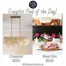 craigslist find of the day west elm large rectangle hanging capizr lamp shades modern pottery barn