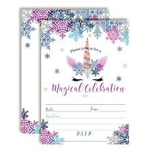 Snowflake Birthday Invitations