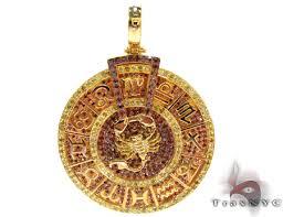 custom zodiac pendant hip hop jewelry style