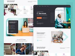 Business Homepage Design It Company Homepage Design By Daniel On Dribbble
