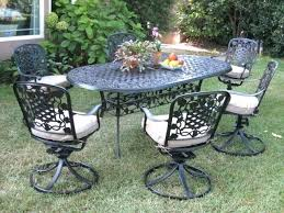 full size of 6 person round patio dining set alexandria crossing 7 piece seats castlecreek complete