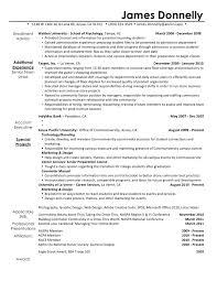 resume for new career