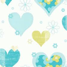 Kids Wallpaper For Bedroom Arthouse Happy Hearts Flowers Childrens Kids Bedroom Wallpaper 533705