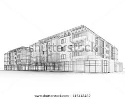 architectural building sketches. Hand Drawn Architectural Sketch Modern Building Stock Illustration - Hanslodge Cliparts Sketches G