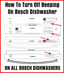 bosch dishwasher beeping how to turn