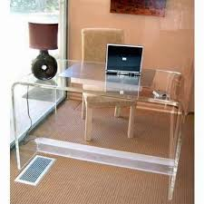 modern full glass desk. Adorable Acrylic Writing Desk For Your Inspiration Ideas. Full Glass Modern E