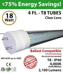 18w 4ft led t8 tube light fluorescent replacement 4000k ledradiant Led T8 Hybrid Series Wiring Diagram With Out A Ballast 18w 4ft led t8 tube light 2100lm 4000k clear ballast compatible