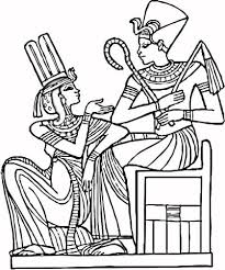Small Picture Egyptian Pharaohs Sitting On Chair Coloring Page Education Art