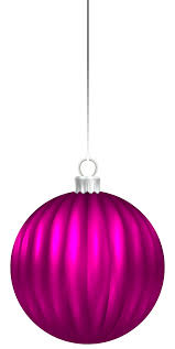 Pink Christmas Ball Ornament PNG Clip Art Image | Gallery ...
