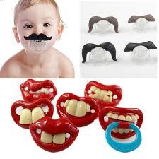 <b>1Pcs</b> Lovely <b>Baby Funny</b> Dummy Prank Pacifier Novelty Teeth ...