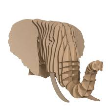 cardboard safari eyan the elephant head wall décor cbs10 color brown size extra large