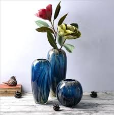 colored glass vase new artificial blown vases home living room decoration creative ornaments bud set colored glass vase