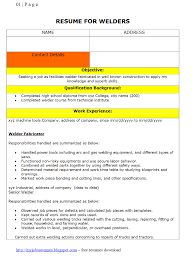 Resume For Welder Job. Resume For Welding Jobs Free For Download ...