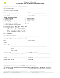 best images of printable babysitter consent forms printable babysitter medical release form