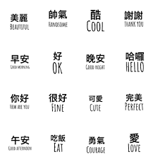 Chinese Words Line Creators Stickers Beautiful Chinese Words