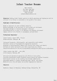 Nanny Resume Examples Templates Skills Infant Position Summary Of