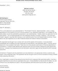 Senior Financial Analyst Cover Letter Financial Analyst Cover Letter