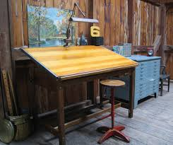 vintage office table. Antique Drafting Tables Made Of Oak Vintage Office Table T