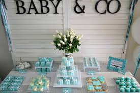 A Tiffanyu0027s Themed Baby Shower  Candy Bars Wrapped Up Like Tiffany And Co Themed Baby Shower