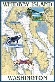 Whidbey Island Washington Nautical Chart Lantern Press