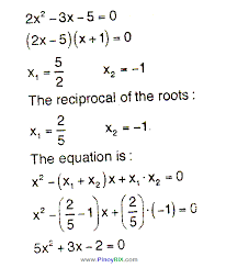 find the equation whose roots are the