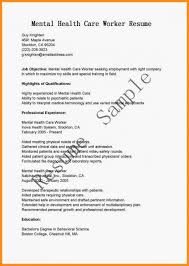 Social Worker Resume Template Mental Health Objective Work