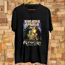 Godzilla Vs Kingkong Vintage Poster T Shirt Size S 3xl Ebay