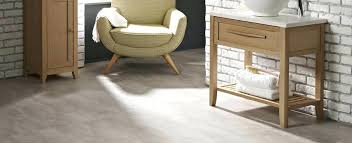 vinyl tile that looks like stone concrete effect flooring in a bathroom by