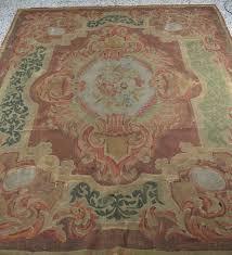 antique original aubusson carpet france xix century 245x200