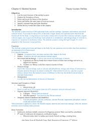 chapter skeletal system theory lecture outline