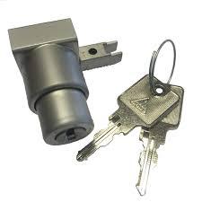 push on glass door lock