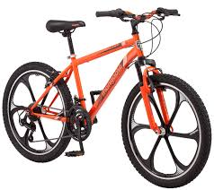 Mongoose Alert Mag Wheel Bike 21 Speed 24 Inch Wheels Suspension Fork Linear Pull Brakes Ages 8 And Up Orange Boys Sizes Walmart Com