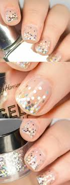 Short Nail Designs With Glitter 33 Awesome Glitter Nail Art Designs The Goddess