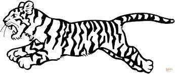 Disegno Di Tigre Che Salta Da Colorare Disegni Da Colorare E Avec