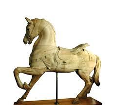 dentzel antique carousel horse stripped non rom