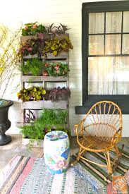 outdoor deck furniture ideas pallet home. Outdoor Art -- Vertical Garden Made From A Shipping Pallet On The Front Porch Of Deck Furniture Ideas Home L