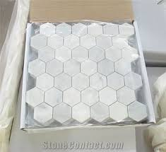 house decoration marble mosaic for wall and floor eastern white marble mosaic tile for bathroom wall hexagon white marble tiles