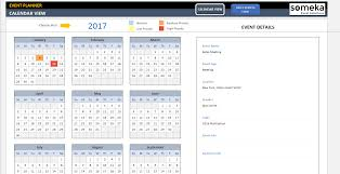 Microsoft Excel Calendar 2020 Dynamic Event Calendar