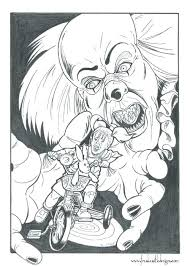 Pennywise The Clown Coloring Pages For Print Out Jokingartcom