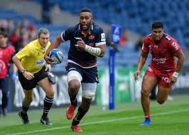 viliame bill mata finds space on the wing for edinburgh rugby pic alastair ross novantae photography