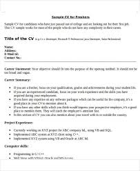 What Is A Resume For A Job Fascinating 60 Best Fresher Resume Templates PDF DOC Free Premium Templates