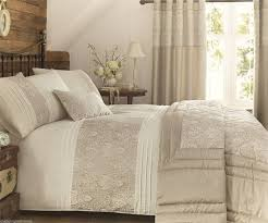 king size cream gold kingsley damask embellished duvet set