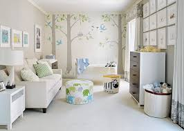 View in gallery Combination of colors and patterns makes the nursery far  more interesting
