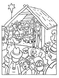 Kleurplaat Stalletje Kerst