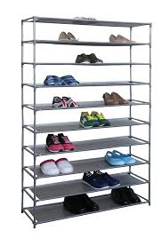 Home Basics 10 Tier Coated Non Woven Shoe Rack Amazon Home Basics FreeStanding Shoe Rack 100Tier 100100 x 3
