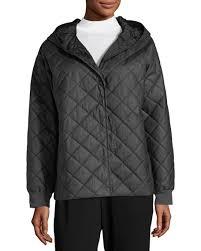 Eileen Fisher Diamond-Quilted Jacket w/ Hood, Plus Size &  Adamdwight.com