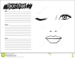 face chart makeup artist blank royalty free ilration